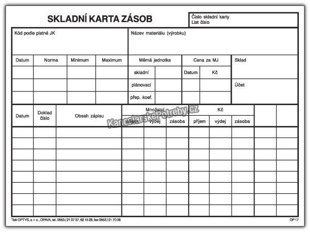 Skladni Karty Zasob Tiskopisy Optys Arbo Cz